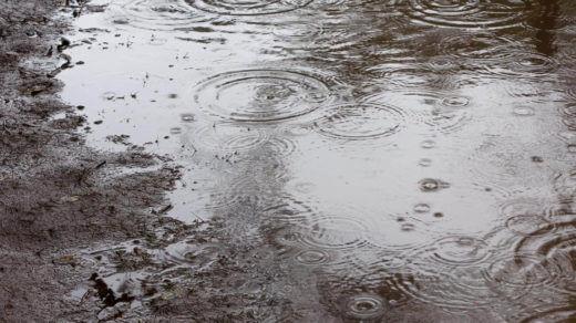 憂鬱な雨と水たまり