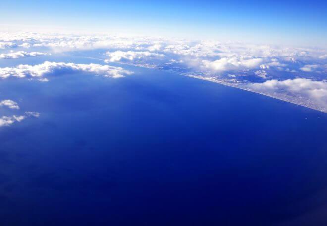 上空から見下ろした地球
