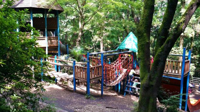 子ども向けアスレチック「トムソーヤ冒険の森」